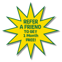 Refer a friend, get a month free!